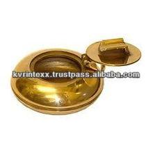 brass brass round pocket+ashtray