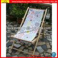 de madera al aire libre silla de playa plegable en silla de salón de sol
