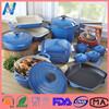 Unique design high quality cast iron enamel cookware