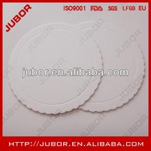 white waxed card board cake circle