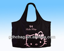 2014 420D printing Hello Kitty shopping bag with handble made in Dongguan Factory