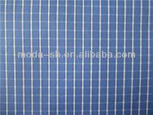 Xangai azul contraste tecido camisa e saia