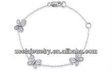 Bali Created White Sapphire Child's Bracelet sterling silver charm mesh bracelets