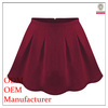2014 ladies' fashion elegent high quality garment factorysexy red pleated mini skirt