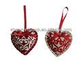 ( xd- 06) 2014 bordada niza navidad sentía decoración de corazón/ornamento