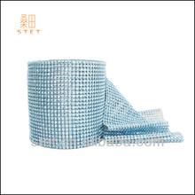 Light turquoise diamond rhinestone mesh for wedding car decoration