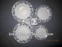 Haonai 20pcs creative design exported porcelain dinnerware set
