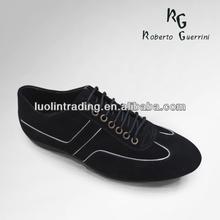 Black suede shoe sport shoe