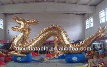 hot inflatable dragon, golden dragon balloon S2035