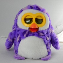 Hot sold electric talking plush toy penguin, toys with Spanish language