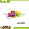 Mini funny plastic toy tractor trailers