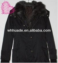 2014 Fur hat band & placket winter coats for women