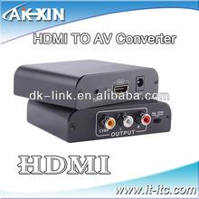 HDMI to AV (Composite Video) + Audio Converter Box