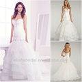 scollo a cuore corpetto di perline parte bassa della schiena a più livelli arruffato tulle le immagini di bellissimi abiti da sposa