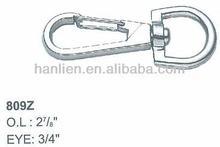 Model No. 809Z swivel round eye snap hook