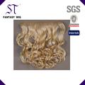 Una sola pieza de largo rizado/extensión del pelo ondulado extensiones 5clips/6clips