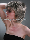 Bob grey short wig for women full lace style for party