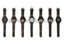Fancy wrist buckle strap leather watch for men