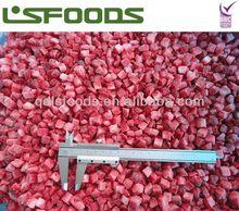 IQF frozen strawberry dice 10mm yogurt