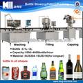 Frasco de vidro automática de engarrafamento de vinho linha/planta de engarrafamento