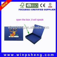latest mini digital design recording cheap music boxes/music box kits