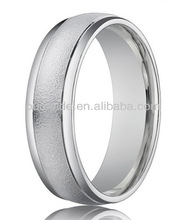 Wholesale Titanium Jewelry 4 mm Sand Blasted Finish Wedding Band Ring- TWR352
