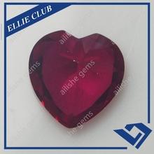heart shape corundum gems for China jewelry