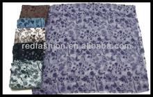 long silk flower printed pashimina scarf