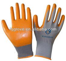 FQGLOVE 13g colorful safety gloves nitrile coat