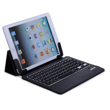 For iPad 5 Keyboard Leather Case Bluetooth 3.0