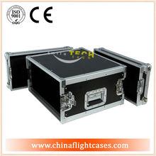 Custom 10U, 12U, 14U, 16U shock amp/mixer rack flight case,rack mount cases with portable wheels