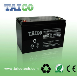 12V 100Ah lead acid vrla AGM deep cycle rechargeable storage battery
