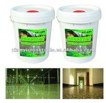 transparent concrete harden chemical