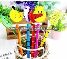 wooden made cartoon pen fruit shape pen