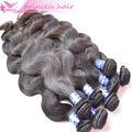 De los mejores y más raro puede ser teñido de color chocolate 100% humano virgen negro natural del pelo brasileño tejido paquetes
