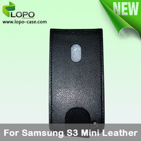 New-Subimation Mobile Phone Leather Case for Samsung Galaxy S3 mini,leather material with printable surface