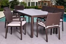5pcs Rattan and wicker cheap aluminum diy rattan furniture