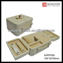 Handmade wholesale travel custom large mirrored jewelry box velvet