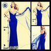 2014 Sexy V Neck Floor Length Mermaid Celebrity Dress Ce1121