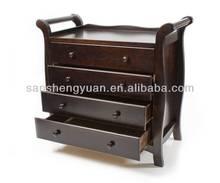 Sleigh Wooden 4 Drawer Baby Chest