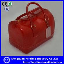 Popular 2014 plastic shopping ladies handbags international brand