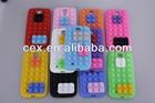 White Brick Building Block 3D Rubber DETACHABLE BLOCKS Design Soft Silicone Back Case Cover Skin For Samsung Galaxy S4 I9500