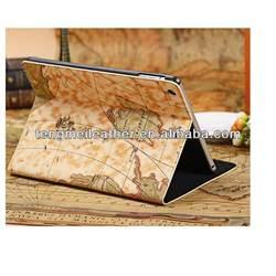 Retro Map Flip Stand Leather Magnetic Case Cover For Apple iPad mini,PU Leather Case For Ipad Mini