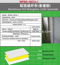 Aluminum foil fiberglass cloth,insulation for fireplaces ac duct insulation fiberglass cloth