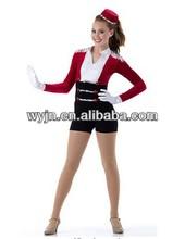 2014- -adults usher dance jazz costume pant- dashing women usher dance wear -child&adult--dashing girl cool danced suit