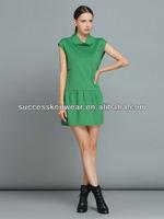YIGELILA-6470 Sleeveless High Collar Dress ladies Fashion Dress