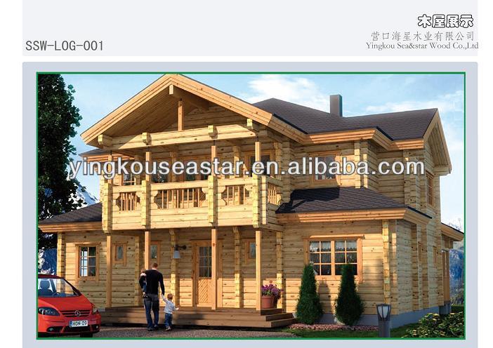 Prefab wooden log homes LOG-001