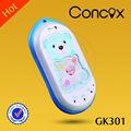 Baby localização telefone para as crianças com a forma de urso/botão sos/número de família concox gk301