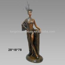 Erotic Art Bronze Noble Nude Standing Woman Statues