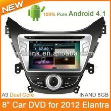 "8"" Android 4.1 Hd 1080P Capacitive Screen Car Dvd For Hyundai Elantra"